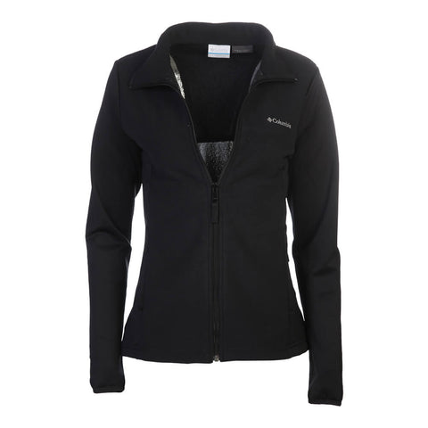 COLUMBIA WOMEN'S WARM AND TOASTY FULL ZIP TOP BLACK