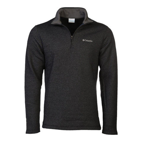 COLUMBIA MEN'S GREAT HART MOUNTAIN 1/2 ZIP TOP BLACK