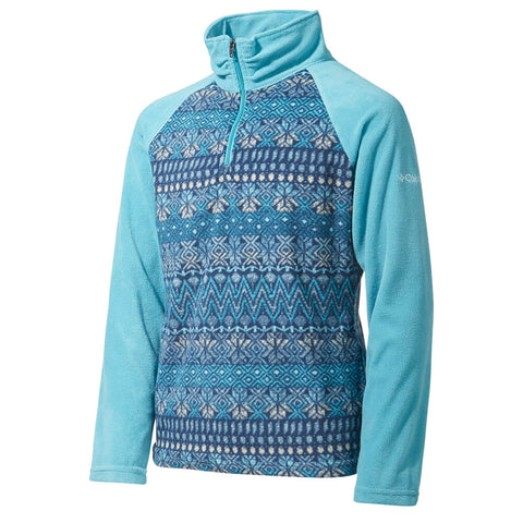 COLUMBIA GIRLS GLACIAL II PRINT TOP PACIFIC RIM/NORDIC