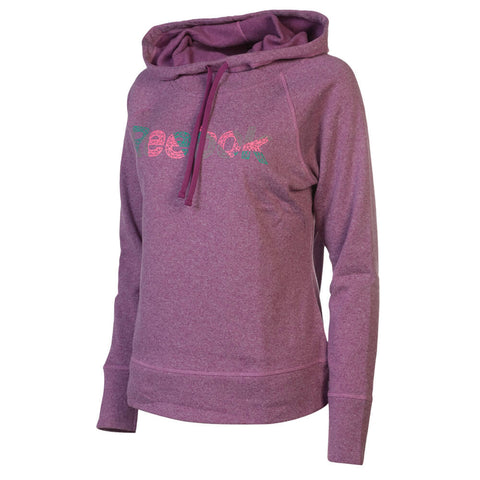 REEBOK WOMEN'S TEAMSTER FUNNEL NECK HOODY PURPLE WINE HEATHER