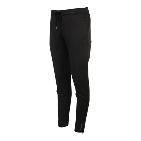 REEBOK WOMEN'S FORCE SLIM TRACK PANTS BLACK HEATHER