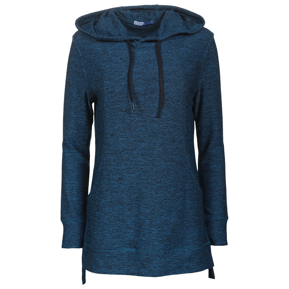 8e4dd93ee ELLE SPORTSWEAR WOMEN S TUNIC HOODY BLUE ROCK – National Sports