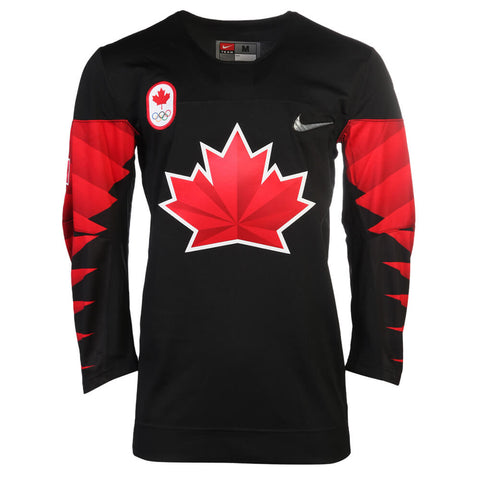 NIKE MEN'S TEAM CANADA OLYMPIC JERSEY BLACK
