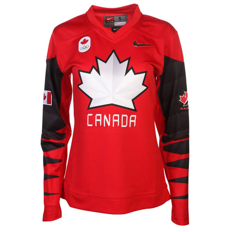 NIKE WOMEN'S TEAM CANADA  OLYMPIC FAN JERSEY RED