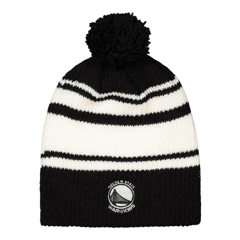ADIDAS MEN'S GOLDEN STATE WARRIORS LONG POM KNIT HAT