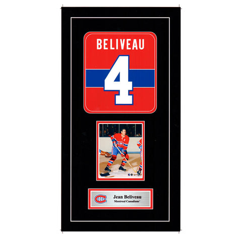 FRAMEWORTH MONTREAL CANADIENS BELIVEAU MINI JERSEY PRINT
