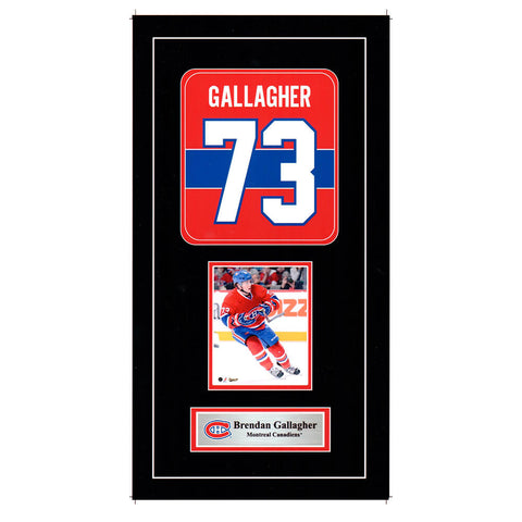 FRAMEWORTH MONTREAL CANADIENS GALLAGHER MINI JERSEY PRINT