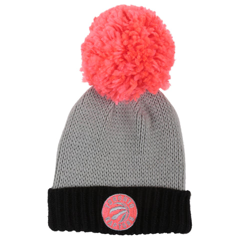 ADIDAS MEN'S TORONTO RAPTORS CUFFED KNIT POM HAT