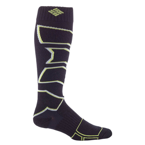 COLUMBIA MEN'S LARGE OVER THE CALF SKI SOCK BLACK