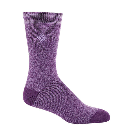 COLUMBIA WOMEN'S 2 PACK THERMAL SOCKS 9-11 PURPLE