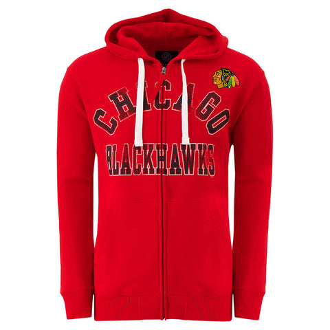 GIII MEN'S CHICAGO BLACKHAWKS FULL ZIP HOODY