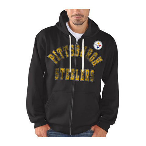GIII MEN'S PITTSBURGH STEELERS FULL ZIP HOODY