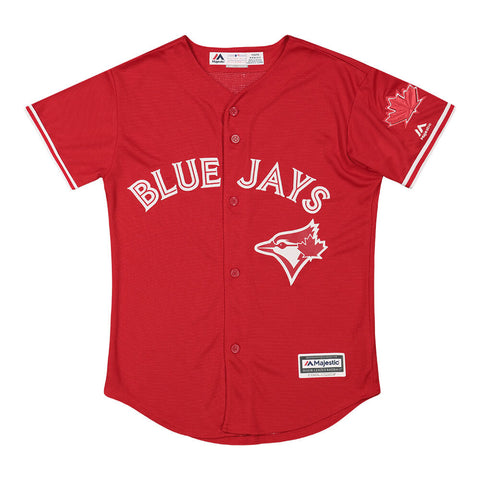 MAJESTIC YOUTH TORONTO BLUE JAYS JERSEY WITH PATCH SCARLET