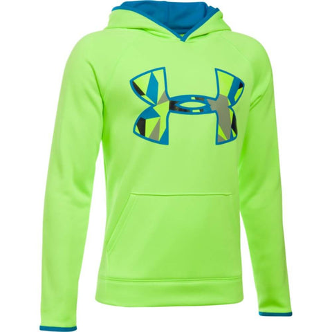 UNDER ARMOUR BOYS AF BIG LOGO HOODY QUIRKY LIME