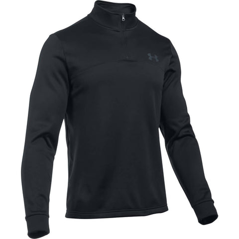 UNDER ARMOUR MEN'S ICON 1/4 ZIP TOP BLACK
