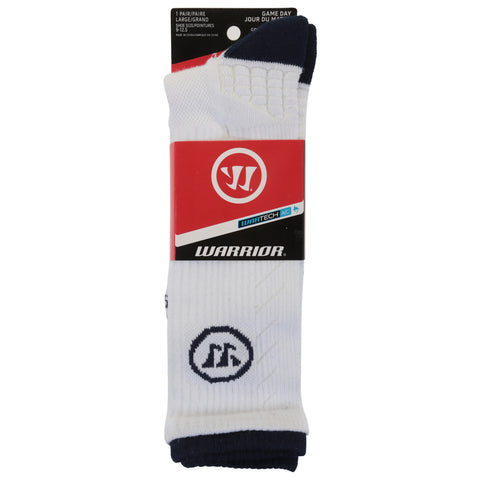 WARRIOR SPORTS M FAST BREAK SOCKS 10-13 WH/NV