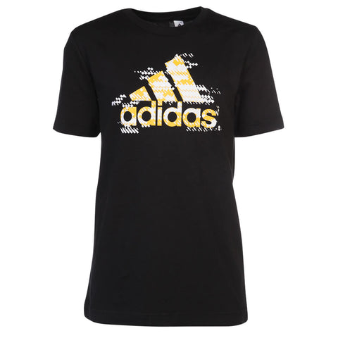 ADIDAS BOYS' BIG LOGO TOP BLACK