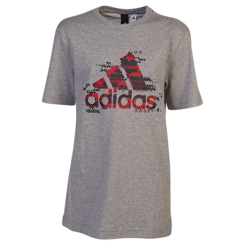 ADIDAS BOYS' BIG LOGO TOP MEDIUM GREY HEATHER