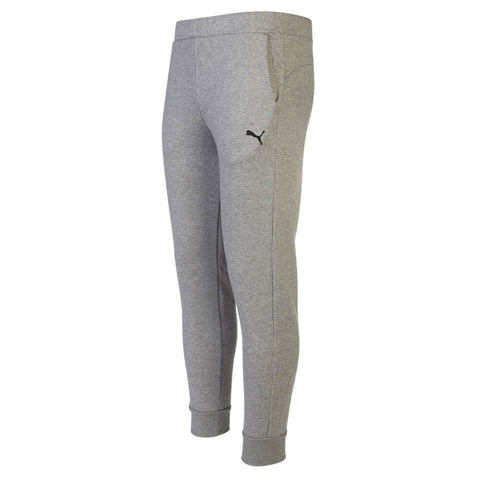 PUMA MEN'S ESSENTIAL CLOSED HEM FLEECE PANT MEDIUM GREY HEATHER