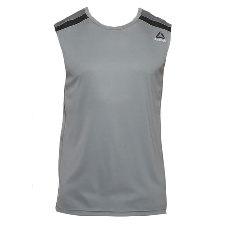 REEBOK MEN'S WOR SLEEVELESS TECH TOP ALLOY