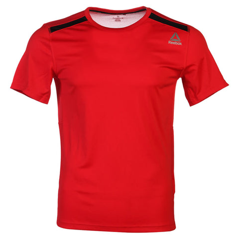 REEBOK MEN'S WOR SHORT SLEEVE TOP PRIMAL RED