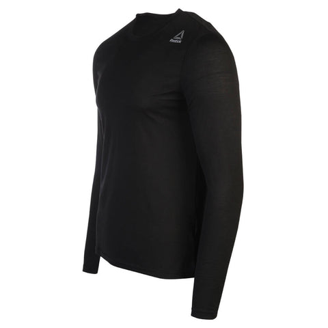 REEBOK MEN'S SUPREMIUM LONG SLEEVE TOP BLACK