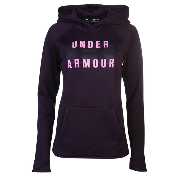 under armour zip up hoodie womens. under armour women\u0027s storm fleece mid logo hoody purple \u2013 national sports under armour zip up hoodie womens