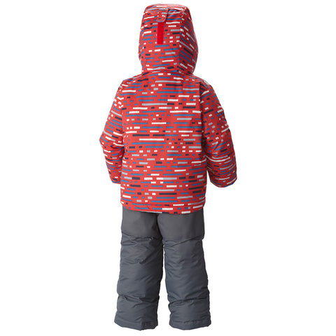 COLUMBIA TODDLER FROSTY SLOPE SET RED PRINT 2015