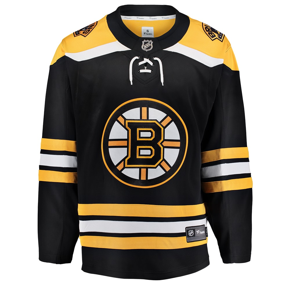 designer fashion eebc9 35ed5 FANATICS MEN'S BOSTON BRUINS BREAKAWAY HOME JERSEY BLACK