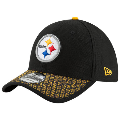 NEW ERA NFL17 PITTSBURGH STEELERS 3930 OFFICIAL SIDELINE CAP OTC