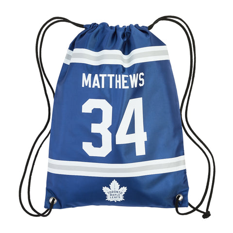 FOREVER COLLECTIBLES TORONTO MAPLE LEAFS NHL PLAYER DRAWSTRING BAG MATTHEWS