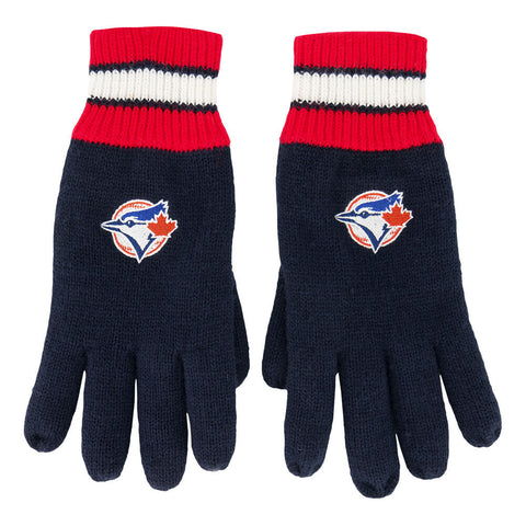 GERTEX MEN'S TORONTO BLUE JAYS THERMAL KNIT GLOVES