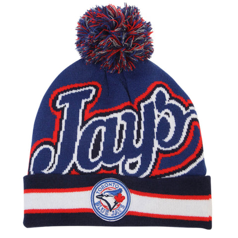 GERTEX MEN'S TORONTO BLUE JAYS JAQUARD KNIT TOQUE