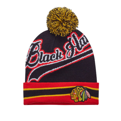 GERTEX MEN'S CHICAGO BLACKHAWKS FAN TOQUE