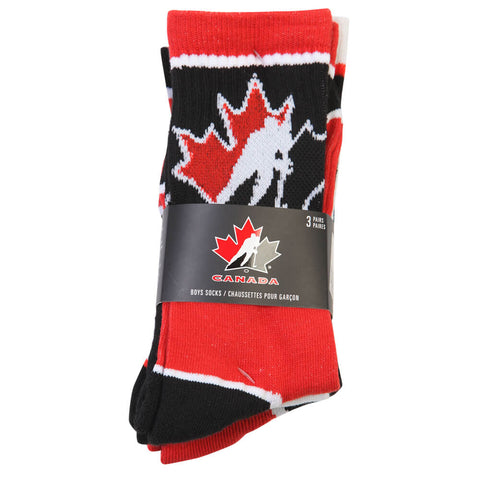 GERTEX YOUTH TEAM CANADA 3 PACK CREW SPORT SOCK