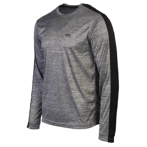 RAWLINGS MEN'S LONG SLEEVE TOP DARK GREY