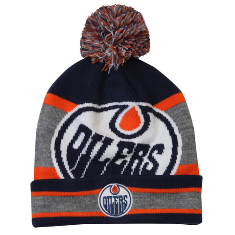 GERTEX YOUTH EDMONTON OILERS FAN POM KNIT TOQUE