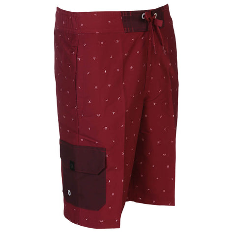 RIPZONE BOYS ROBBIE AOP TRUNK RIO RED