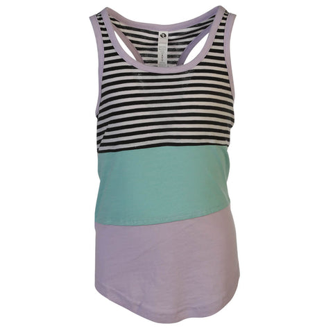 RIPZONE GIRLS STEPHANIE COLORBLOCK TANK TOP AQUA