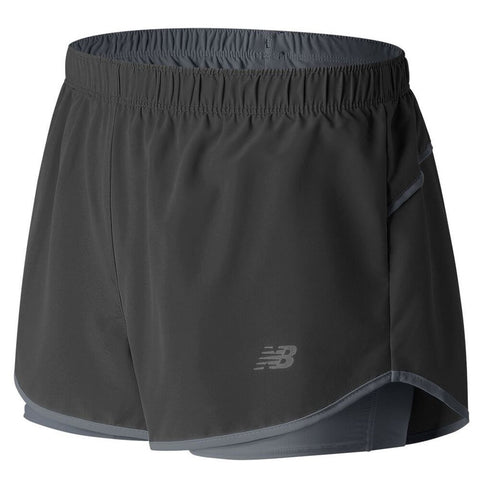 NEW BALANCE WOMEN'S 2 IN 1 WOVEN SHORT BLACK