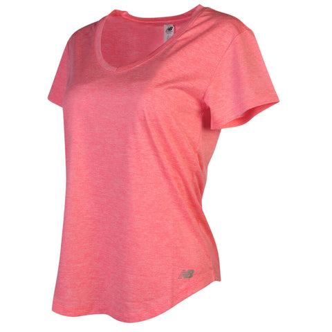 a02a2d45 ... NEW BALANCE WOMEN'S HEATHERED PERF TOP GUAVA