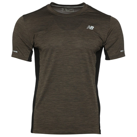 NEW BALANCE MEN'S TEXTURED STRIPE TOP MFG