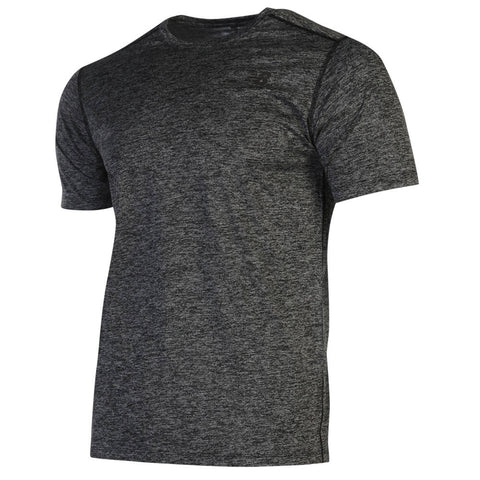 NEW BALANCE MEN'S CORE HEATHERED TOP BLACK