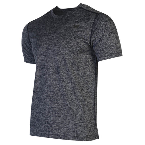 NEW BALANCE MEN'S CORE HEATHERED TOP PIGMENT