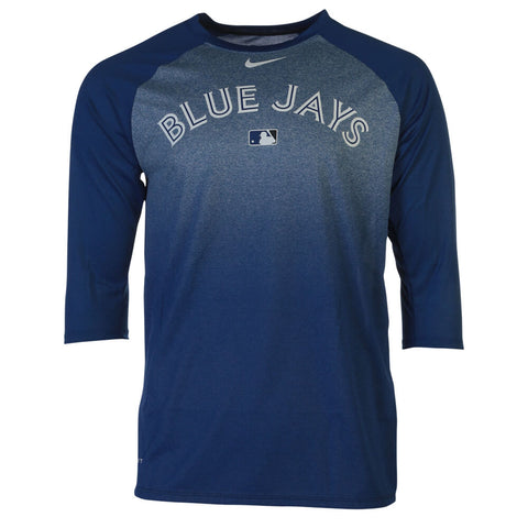 NIKE MEN'S TORONTO BLUE JAYS AC LEGEND 3/4 RAGLAN 1.8 TOP