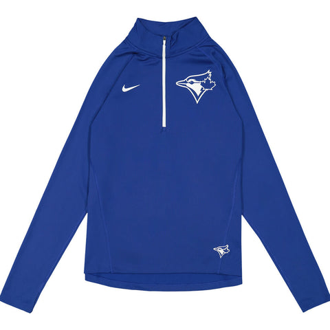 NIKE WOMEN'S TORONTO BLUE JAYS HALVE ZIP CORE LONG SLEEVE TOP