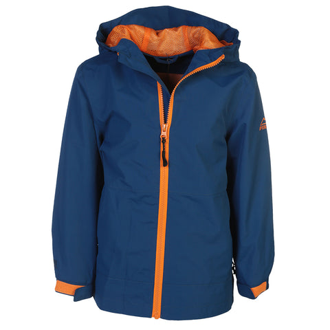 MCKINLEY BOYS' DANIEL RAIN JACKET TRUE BLUE