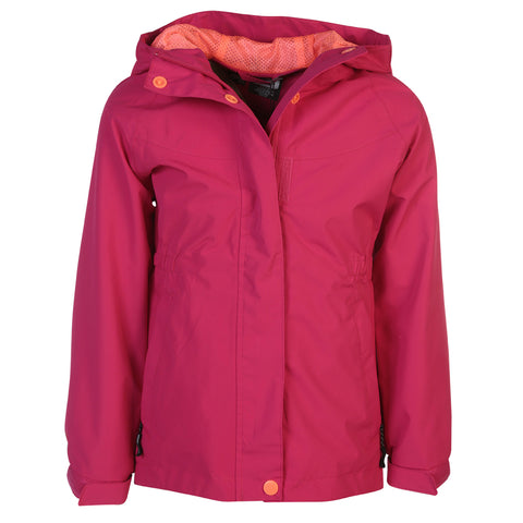 MCKINLEY GIRLS' PAIGE RAIN JACKET PINK PEACOCK