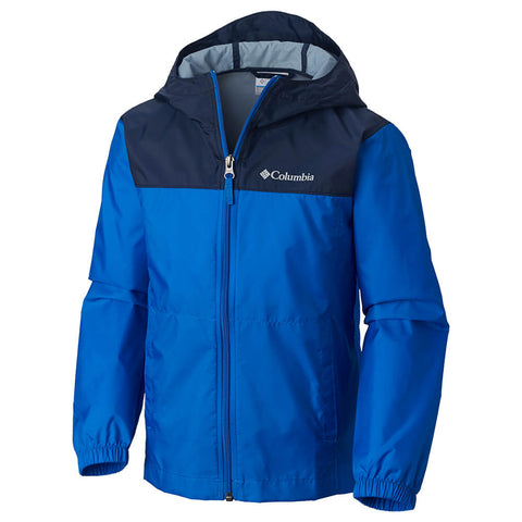 COLUMBIA BOYS' NO RAIN NO GAIN JACKET SUPER BLUE