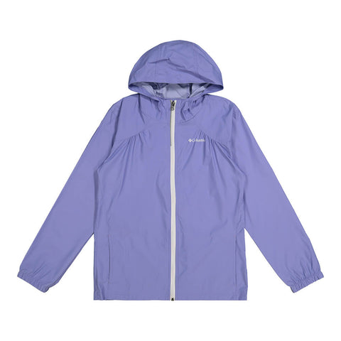 COLUMBIA GIRL'S SWITCHBACK RAIN JACKET FAIRYTALE